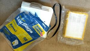 Eureka Upright HF2 HEPA Vacuum Filter 61111, 61495, 62880, Bags, and Belt Bundle