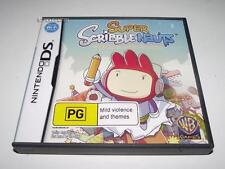 Super Scribblenauts Nintendo DS 2DS 3DS Game *Complete*