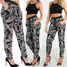 Women's Ladies Paisley Print Baggy Harem Pockets Trouser Pant Small to Plus Size