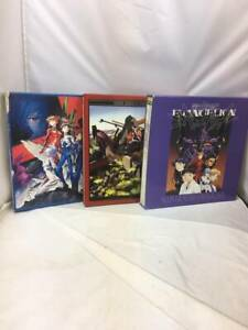Neon Genesis Evangelion Laserdisc Set 3 BOX (14 Sheets) Set Fedex Used Good