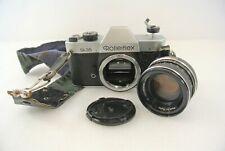 Rolleiflex SL35 Film Camera w/ Strap & Planar 1.8/50 Lens Singapore Untested