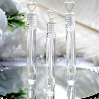24 Wedding Wand Heart Tube Bubble Favours Table Decorations Xmas Party Accessory