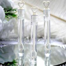 24 wedding bacchetta cuore TUBI bolla favorisce DECORAZIONE TAVOLA PARTY ACCESSORI