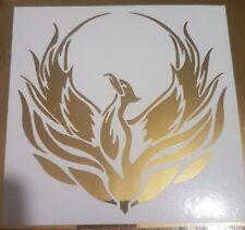 5 inch Tribal Phoenix gold mirror - Custom vinyl car sticker, decals, graphics