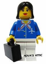 LEGO CITY AIRPORT FEMMINA Stewardess Pupazzetto NUOVI CON CUSTODIA