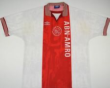 1996-1997 AJAX UMBRO HOME FOOTBALL SHIRT (SIZE XL)