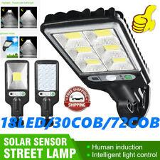 Solar LightsCOB/LCD Motion Sensor Security Wall Light Garden Landscape Lighting