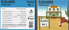 Karaoke CD+G Country Francais Vol. 4  CDG BRAND NEW at MusicaMonette from Canada