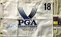 Rory McIlroy autographed signed 2014 PGA Championship embroidered golf flag JSA