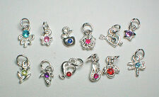 12 Mixed Nail Dangles in Alloy