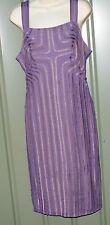 MARCELANE violet lilac mesh and satin tape midi dress size 12