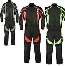 Motorcycle Motorbike Textile Sporty Jacket Trouser Suit Waterproof CE Armoured