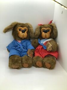 LIMITED Edition Robert Raikes Originals Jessica & Jasper Wooden Face Teddy Bears
