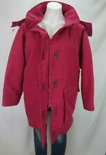 VTG Woolrich Woman Blanket Lined Hooded Chore Coat Made in USA Pink Women's Med.