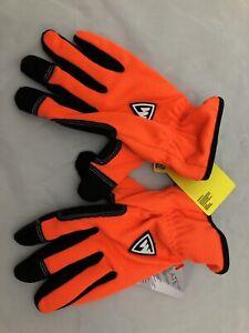 West Chester Dirty Work Warm Hunter Orange Black Thinsulate Gloves Hunting XL