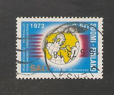 Finland #515 Vf Used - 1972 50p Salt - Globe, Us & Ussr Flags