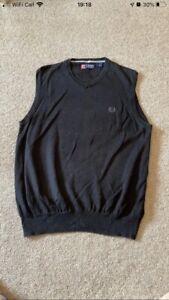 CHAPS by Ralph Lauren Black Sweater Vest Size Large (B507)
