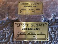 Ettore BUGATTI Molsheim Alsace data plate CHOICE