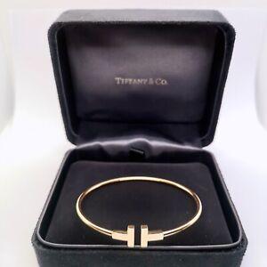 Tiffany T wire rose gold bracelet large size