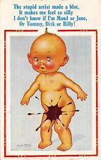 POSTCARD  COMIC  DONALD  McGILL   Children  Related  Ink  Blot.....