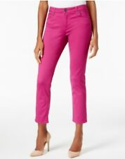 Kut from the Kloth Reese Straight Ankle Jeans FUCSHIA FLARE Size 4