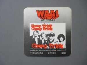 Cheap Trick satin cloth radio promo sticker Power WAAL The Arena 2/19/81 !