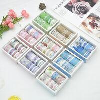 10 Rolls/Box Washi Tape Decorative Scrapbooking Paper Adhesive Sticker Craft New