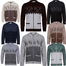 New  Men Classic Front Zip   Granddad Collar Cardigan SIZES-S,M,L,XL,XXL