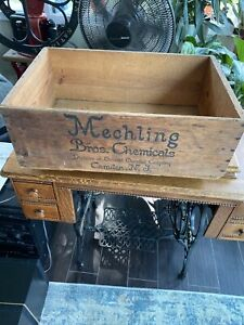 antique wood box  Crate Mechling Brothers