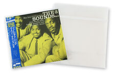 """RESEALABLE flap outer vinyl record sleeves plastic cover 12"""" LP 2mil -50 pieces"""
