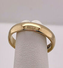 Antique 14k yellow gold 3.8mm Plain Wedding Band Stack Ring Size 6.50 by JR Wood