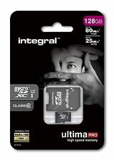 Integral Ultima Pro 128 GB Class 10 Micro SDXC Memory Card With Adapter