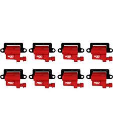 MSD LS Ignition Coils D581 Square LS Truck Coils Ignition Coil Set of 8 LS Swap