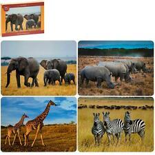 Set of 4 Savannah African Elephant Wild Animals Placemats Dining Table Mats