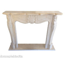 Fireplace Marble Yellow Sienna Fireplace Frame Antique Style Classic Louis XVI