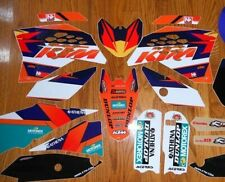 KTM RACING GRAPHICS KIT 65 SX ( 2009 to 2015 ) w/ BLACK Backgrounds included