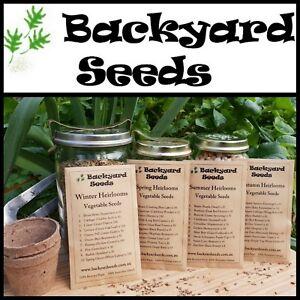 4 SEASONS HEIRLOOM VEGETABLE SEED SELECTION (40 seed varieties)