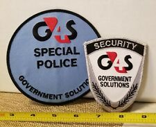G4S Government Solutions Security Patch Set. 1-Special Police and 1-Badge.