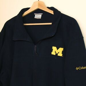 Columbia 3XLT 3XL University of Michigan Fleece Full Zip Jacket Navy