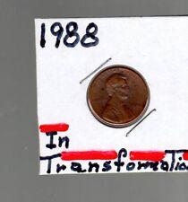 Error coin  1988 1C penny