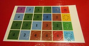Dark World Board Game Spares Hits Points & Number Disc Tiles Full Set on Card