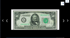 BOSTON HISTORY  Fr. 2102-A $50 1934  Extremely Fine.