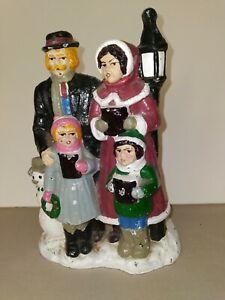 Cast Iron Doorstop Christmas Carolers painted