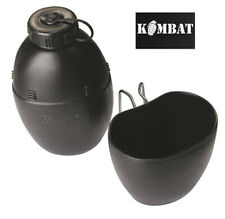 Kombat British Army Military 58 Pattern Canteen Water Bottle & Cup Black New