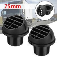 2pcs 75mm Heater Duct Warm Air Outlet Vent Black For Eberspacher Webasto Propex