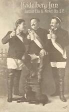 HEIDELBERG INN Beer Steins, San Francisco, CA German c1910s Vintage Postcard