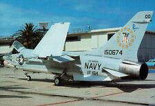 VOUGHT F-8 CRUSADER USN Fighter Famous Airplanes of the World FAOW Black No 1