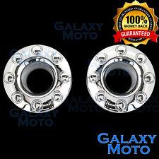 05-17 Ford Super Duty DUALLY Chrome 8 Lug FRONT Wheel Center Hub Cap 1 PAIR Set