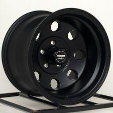 "15 Inch Black Wheels Rims Import Truck Toyota Isuzu GM Chevy Truck 6 Lug 15x10"""