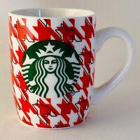 Starbucks 2017 Coffee Mug Tea Cup 10 oz Red Houndstooth Check